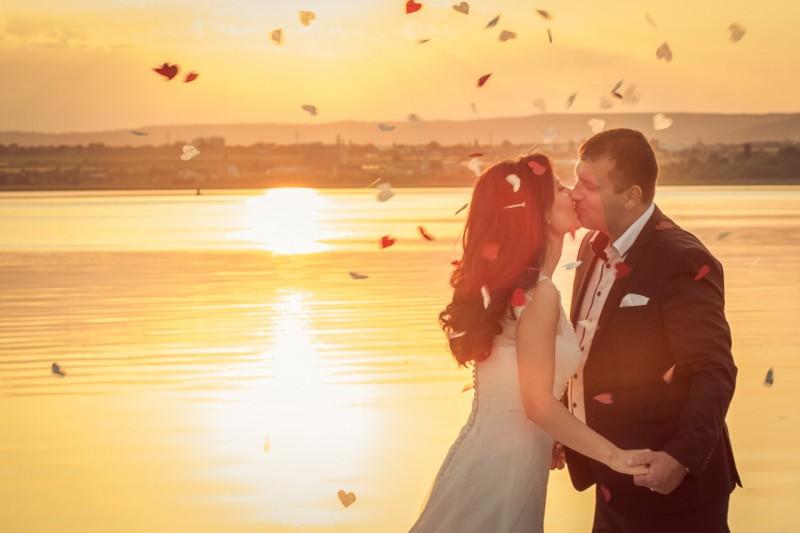 Сватбена фотосесия по залез, Варна